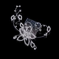 Память Любовные Женская Серебряный Diamond сплава Головные уборы T014 #01028696