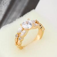 Женская золото 18K Циркон кольцо J0589