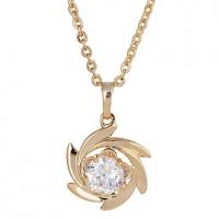 Женская золото 18K Циркон ожерелье D0055