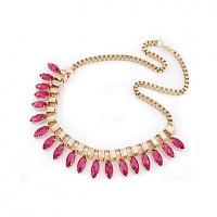 Элегантный Gemstone Короткий 40 * 20 * 2,2 см Ожерелье #01095380