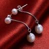 Luckypearl Женские сережки Серебро 925 до 4-5мм, вниз 6-7мм природная жемчужина серьги EA0106W026260 #00896849