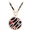АЗС Diamonade Круглый ожерелье с двойной цвет цепь