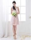 Нежное кружевное платье на одно плечо с длинным сатиновым поясом #00710809