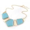 Женская Европа двойной цвет Геометрическая ожерелье 40 * 14 * 1.8cm #01108423