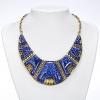 Длинные Женская Нация Стиль Голубое ожерелье с Серьга