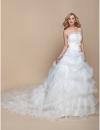 ltbridal строки принцесса без бретелек собор поезд органзы свадебное платье (937254) #00937254