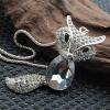 Женская 9 см Фокс подвеска 74см Длинный свитер ожерелье