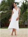 Асимметричное свадебное платье с А-силуэтом и V-образным вырезом #00174388