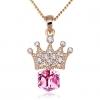 Корона Форма ожерелье (фуксия)