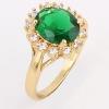 Ку-Ню Женская золотое покрытие Циркон 1Cm кольцо J1667