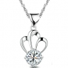 Timeek Женская 925 Серебряная корона Форма ожерелье
