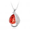 Великолепная форма листа Ожерелье (красный)