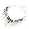 Женская мода Punk заклепки череп шаблон ожерелье 40 * 21 * 1 см #01108449