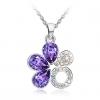 Сакура Форма ожерелье (фиолетовый)