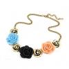 Metal Rose Pattern 45 * 6 * 0,5 см Ожерелье #01095407