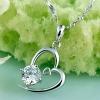 Женская 925 Серебряное сердце Diamonade Ожерелье