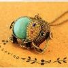 Dumoo Винтаж Богемия Стиль Слон Форма ожерелье (случайная поставка & Просто только один)