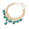 Женская Европа Мода Золото Gem ожерелье 45 * 4 * 1.6cm #01108388