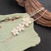 Женская 8см сливы цветок Форма Подвеска 68см Длинный свитер ожерелье