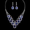 Память люблю женщин Серебряный бриллиантовые серьги сплава и ожерелье J017-1 #01028670