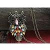Cute Красочные Сова Форма ожерелье #01027020