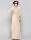 оболочкой / колонки одного плеча до пола шифон мать невесты платье (568163) #00568163