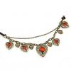 Ангела Крылья Heart Shaped 45 * 3,3 * 2,4 см Ожерелье #01095336