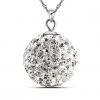 925 Baihe Женщин Silver Ball Форма Длинные ожерелья 37см