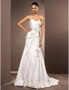 A-Line Милая суд Поезд атласная шифон свадебное платье #00519043