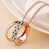 Золото Элегантный женский Мага Leopard Алмазный ожерелья свитера