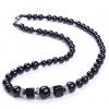 LuckyPearl женский черный оникс ожерелье MN0001BS11166 43см Длинные #00822461